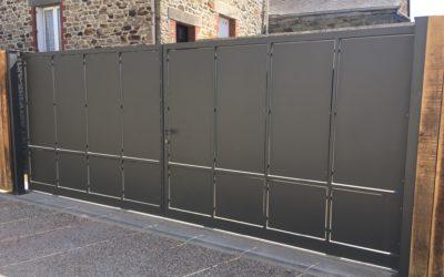 Portail coulissant 2 vantaux à La Guerche de Bretagne en Ille-et-Vilaine (35)