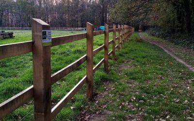 Clôture pour chevaux à la ferme écocentre La taupinais à Rennes